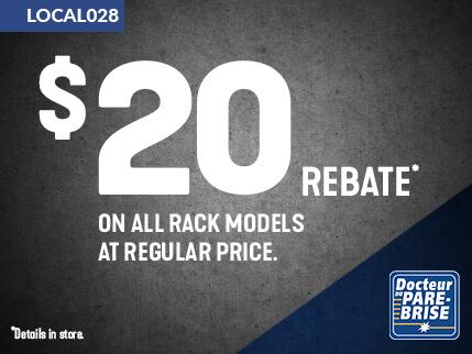 LOCAL028 20$ rebate racks
