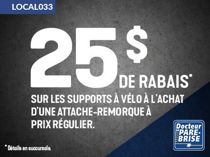 LOCAL033 25$ rabais supports velo attache remorque