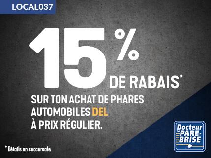 LOCAL037 15% rabais phares automobiles